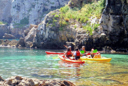 Kayak in Menorca