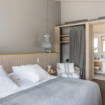 Lodge bedroom at the Son Felip Menorca country house
