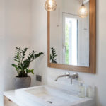 Washroom at Son Felip luxury materials and design