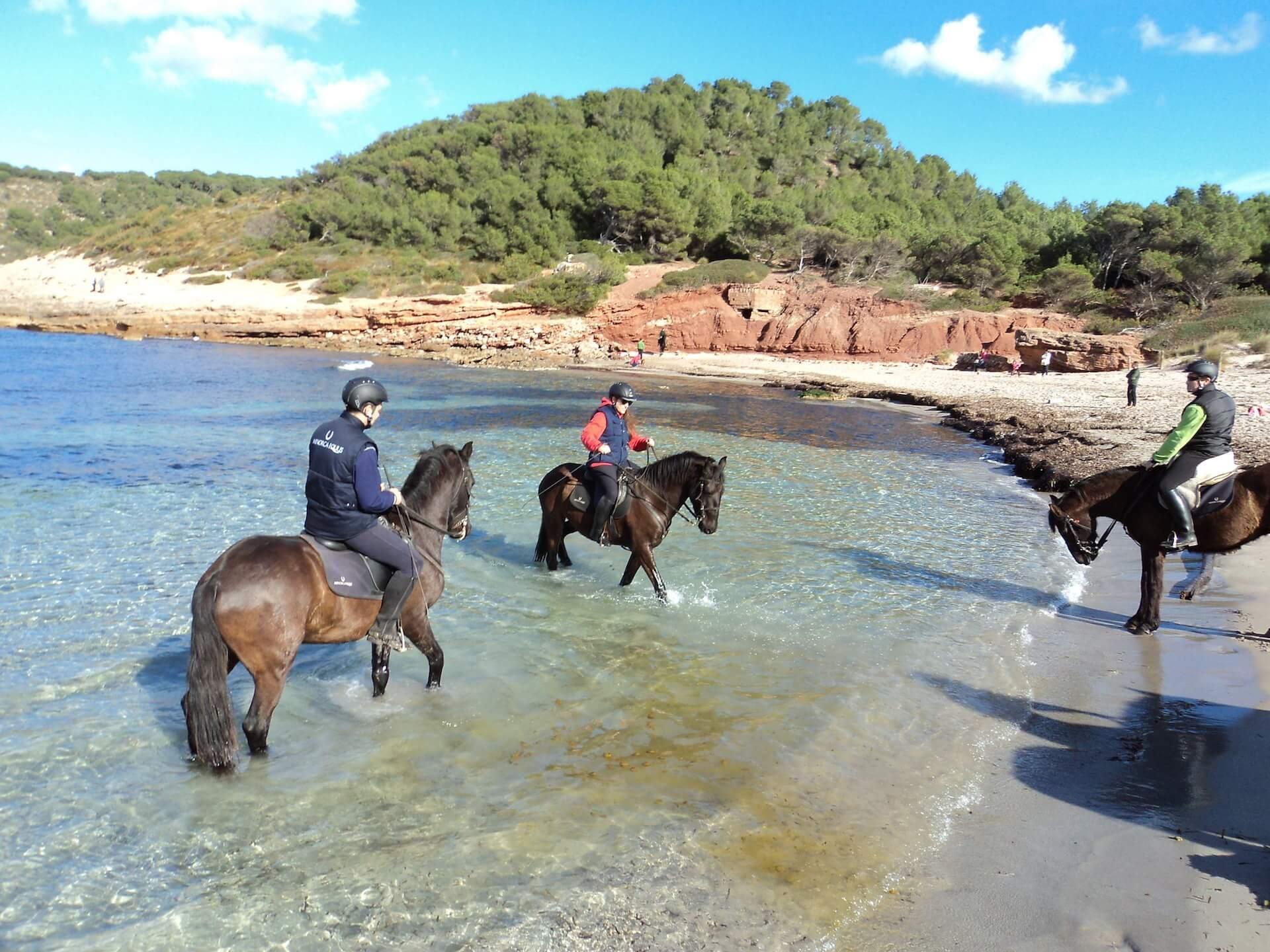Horseback riding in Menorca