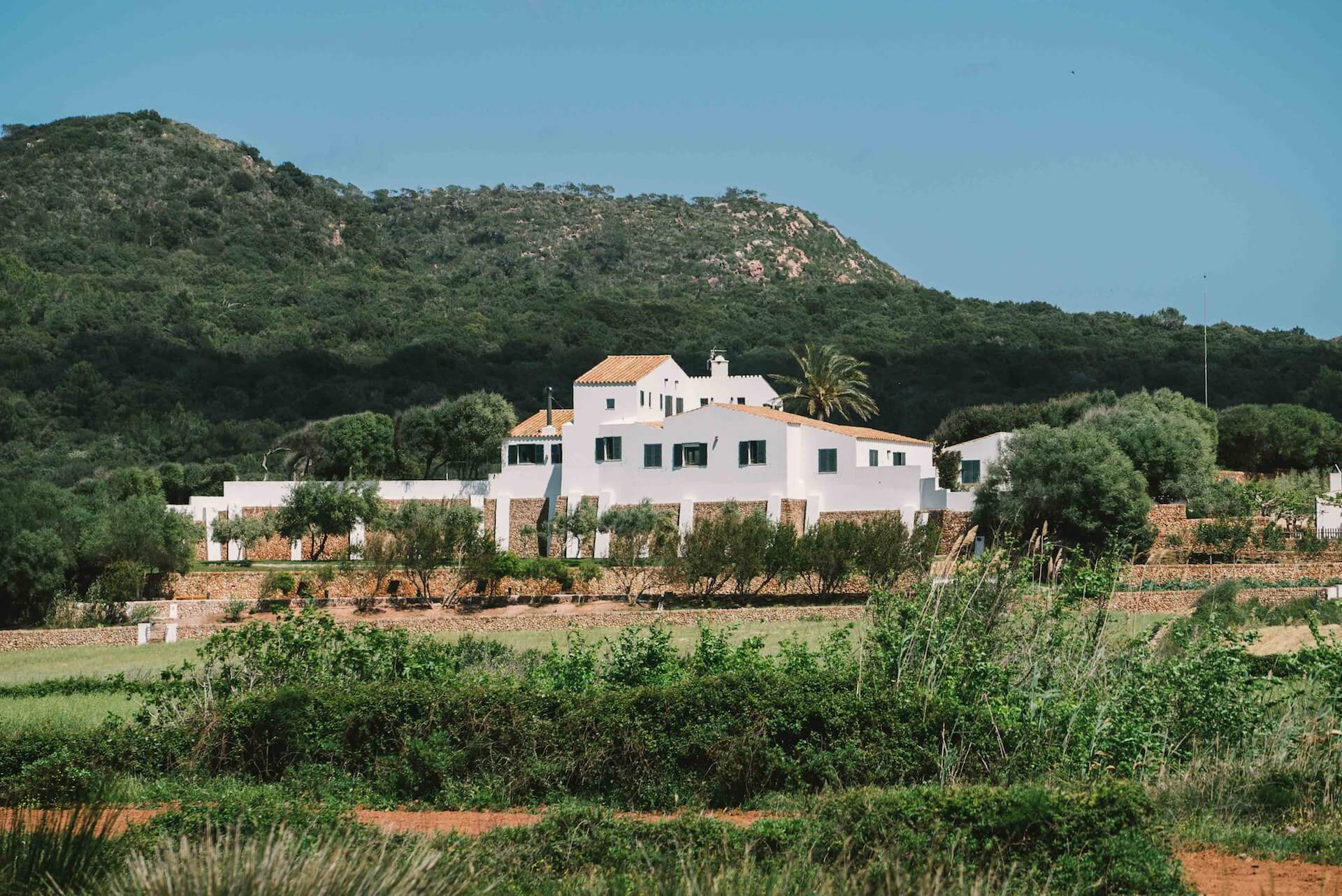 View of the farmhouse at Son Felip