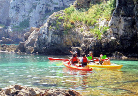 Kayak in Menorca